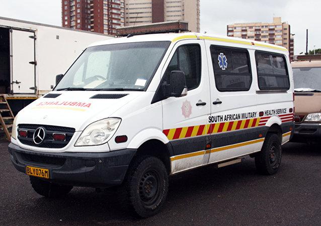 Ambulancia de Sudáfrica (archivo)