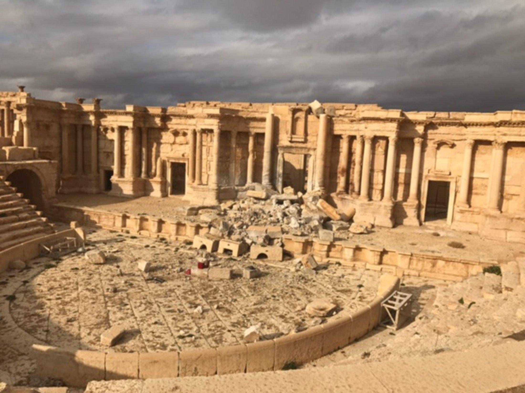 El complejo histórico de Palmira en la provincia siria de Homs