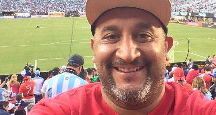 El Chapulín durante un partido de la Copa América Centenario