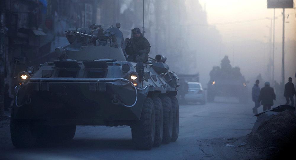 Soldados rusos en Alepo, Siria (archivo)