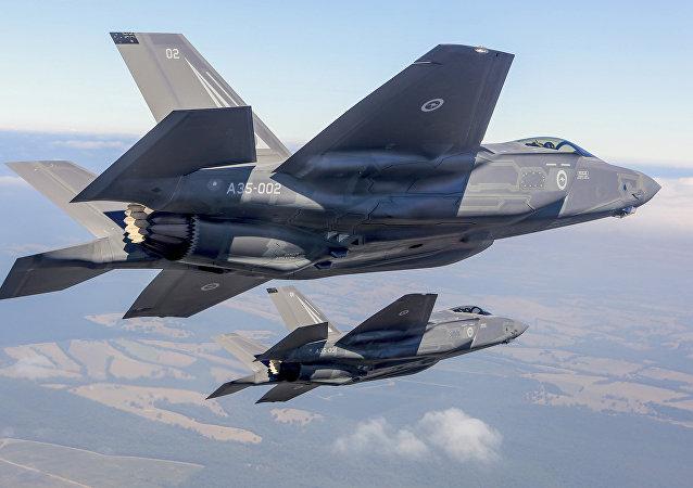 Cazas F-35 (Archivo)