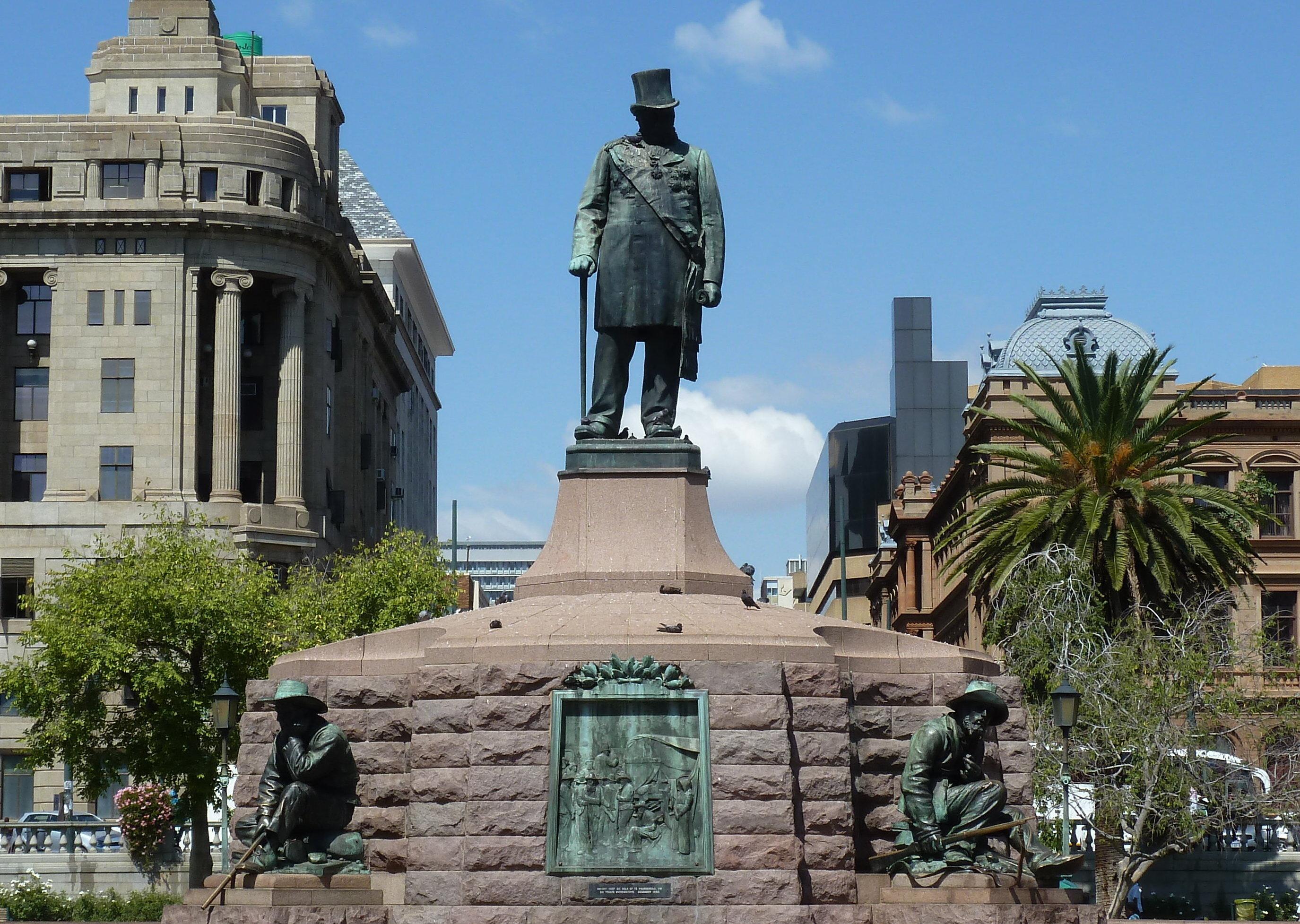 La estatua de Paul Kruger en Pretoria