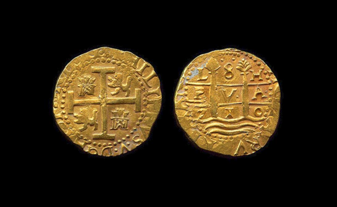 Unas monedas del tesoro de la Flota de San Miguel
