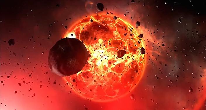 Ilustración gráfica de un objeto cósmico
