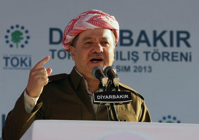 Masud Barzani, el presidente del Kurdistán iraquí