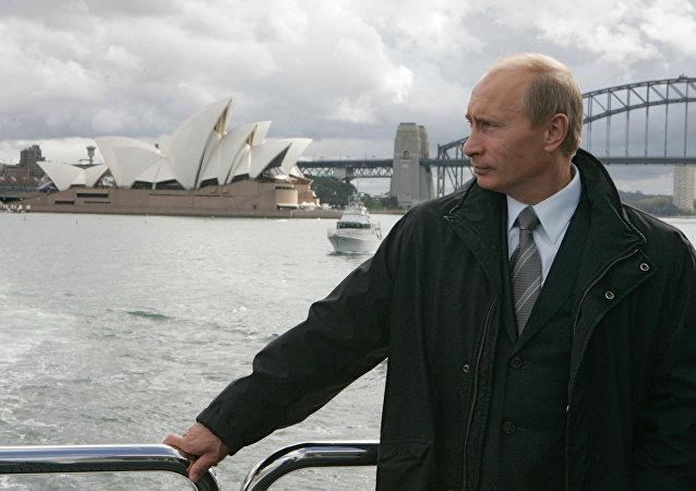Vladímir Putin en Australia, 7 de septiembre de 2007