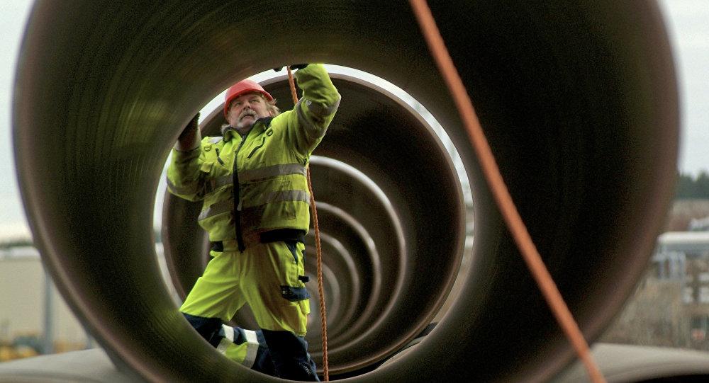 La construcción de un gasoducto (imagen referencial)