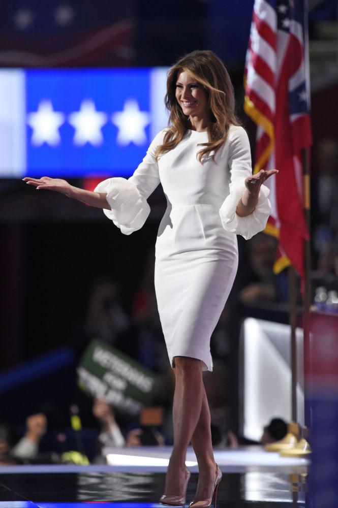 La primera dama de EEUU, Melania Trump