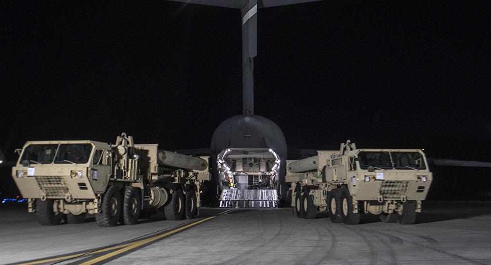 Las primeras partes del escudo antimisiles THAAD llegan a Corea del Sur (archivo)