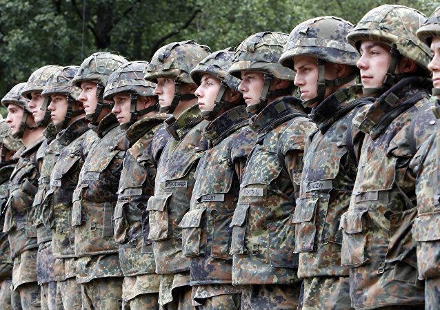 Soldados del Bundeswehr alemán