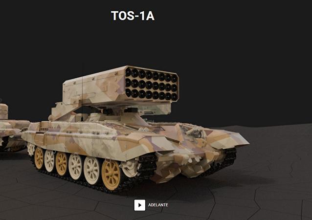 El sistema de lanzacohetes TOS-1A
