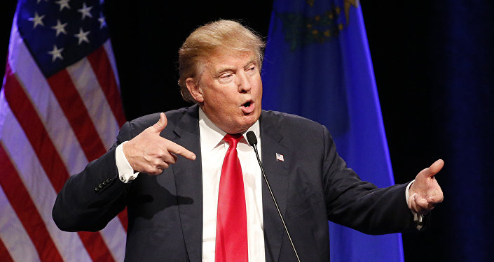 In this Dec. 14, 2015 file photo, Republican presidential candidate Donald Trump speaks about Army Sgt. Bowe Bergdahl at a rally in Las Vegas.