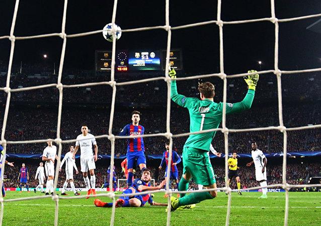Un gol de Sergi Roberto (imagen referencial)