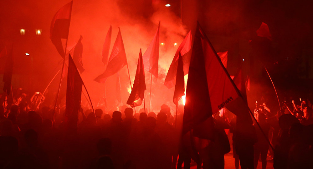 Manifestación de mujeres en Santiago