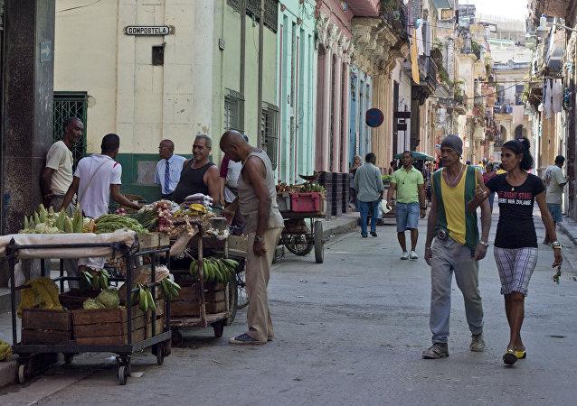 Una calle da La Habana Vieja, Cuba