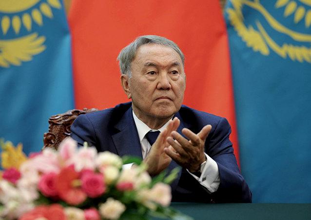 Nursultán Nazarbáyev, presidente de Kazajistán