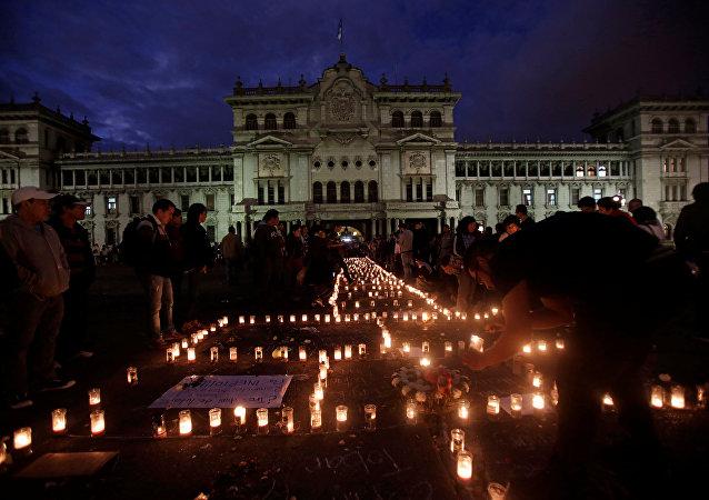 Homenaje a las víctimas del incendio en Guatemala