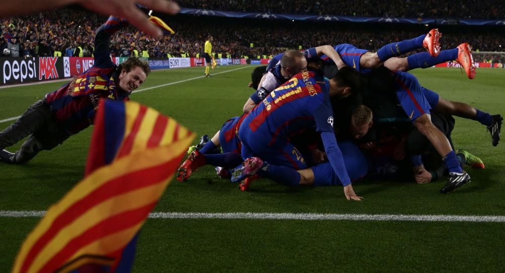 Los futbolistas del FC Barcelona