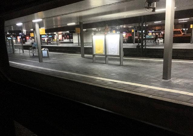 La estación de trenes en Düsseldorf