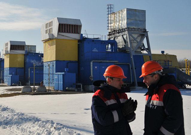Depósito de gas en Ucrania