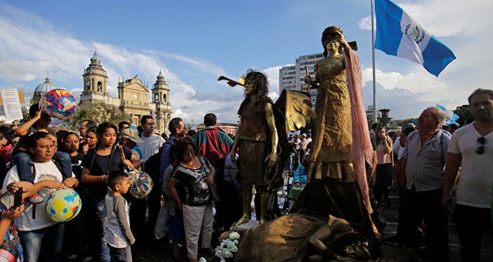 Manifestaciones en la Ciudad de Guatemala