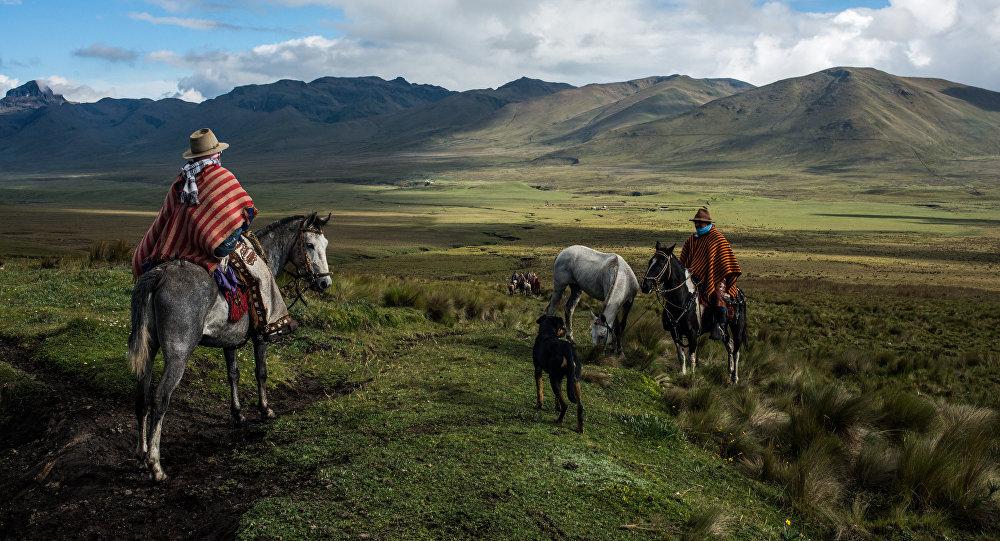 Vaqueros en la foto de Luis Fabini
