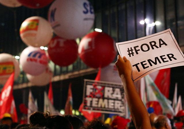 Protestas en São Paulo contra la reforma de las pensiones de Temer