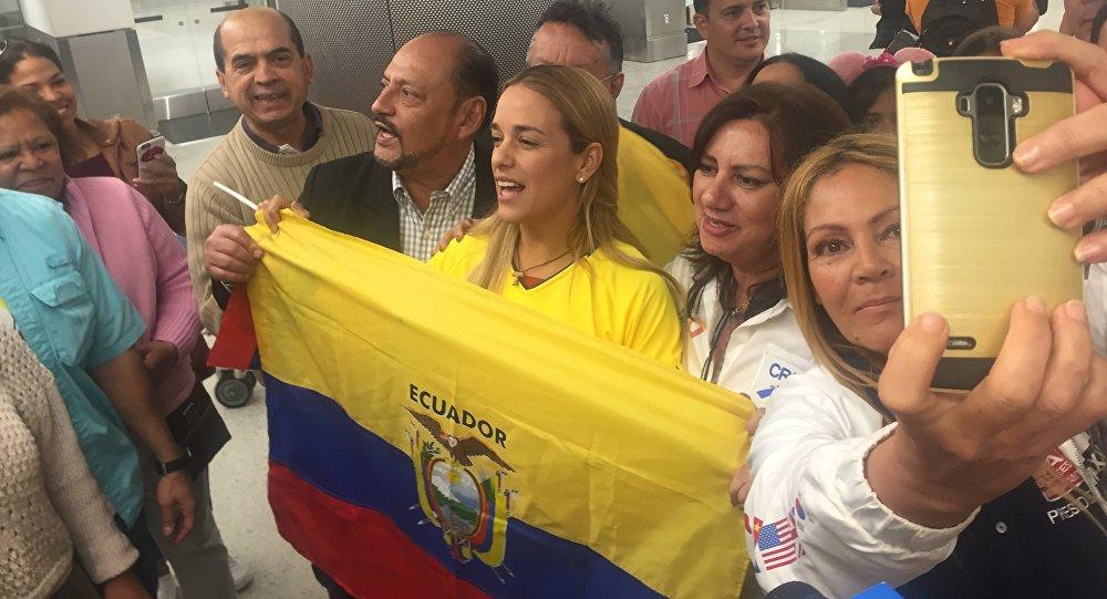 Lilian Tintori en Ecuador