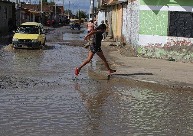 Las inundaciones en Perú (archivo)