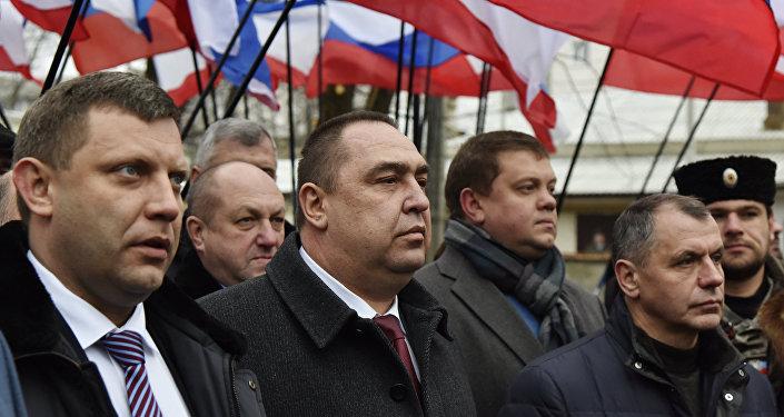 Los líderes de RPD y RPL visitan Crimea (archivo)