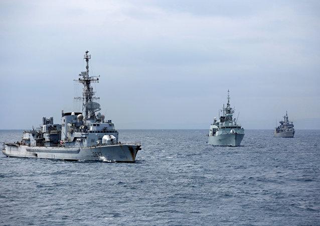 Los buques de la OTAN (imagen referencial)