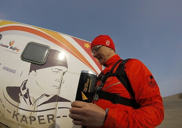 Alexandr Kaper, miembro de la Sociedad Rusa de Geografía, intenta caminar de Moscú a Pekín en 200 días