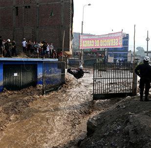 La inundación en Perú
