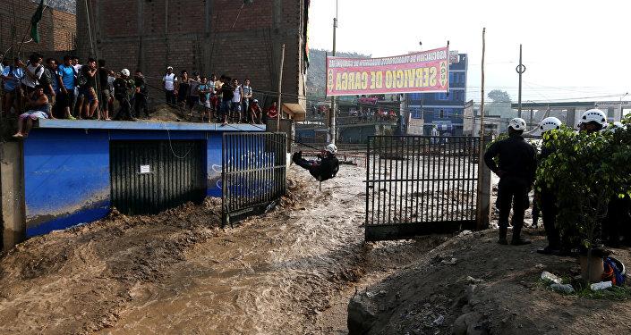 La inundación en Perú (archivo)