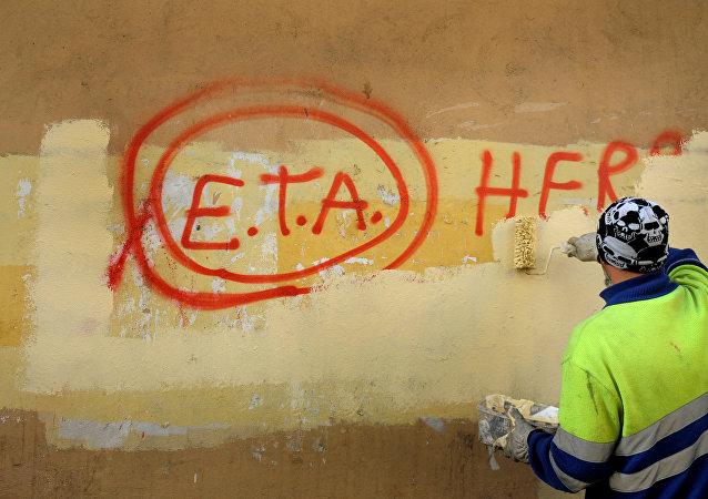 Un grafiti con la palabra ETA
