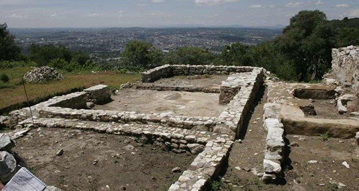 Las ruinas de Tepeticpac, uno de los barrios en Tlaxcallan