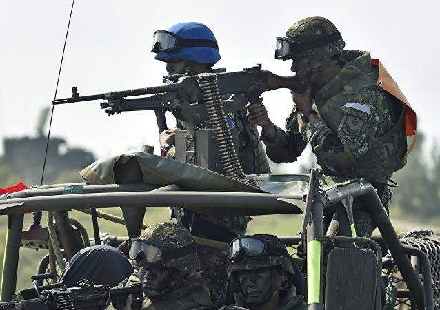 Militares taiwaneses durante unas maniobras (archivo)