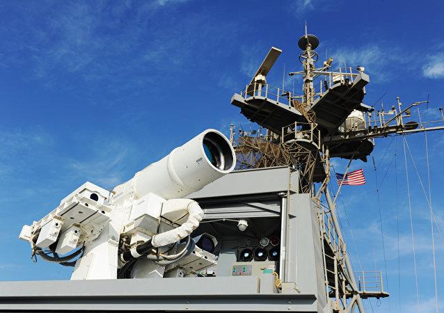 El láser instalado en el barco estadounidense USS Ponce (archivo)