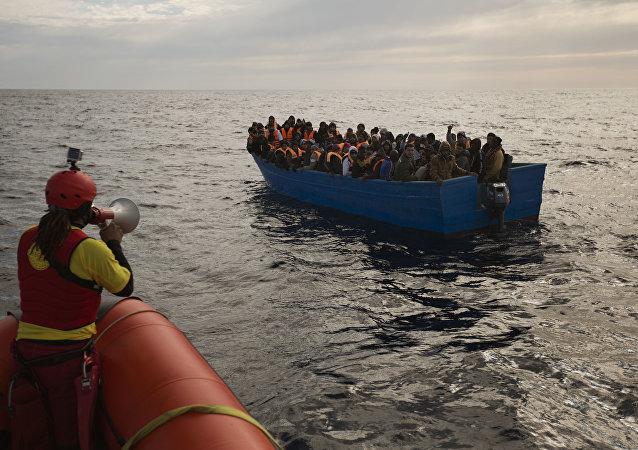 Refugiados en el mar Mediterráneo (archivo)