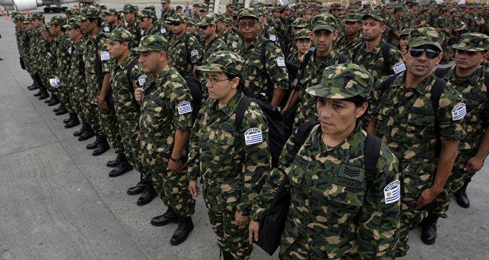 Militares uruguayos en Haiti (archivo)
