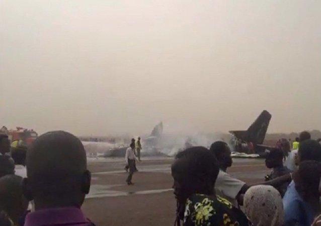Se estrella un avión en el aeropuerto del Sudán del Sur