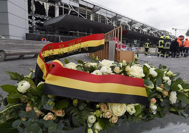 Homenaje a las víctimas de los atentados en Bruselas