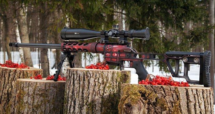 Un fusil de alta precisión Lobaev con diseño individual inspirado en cómics