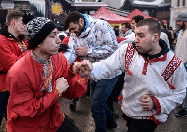 Máslenitsa en Moscú
