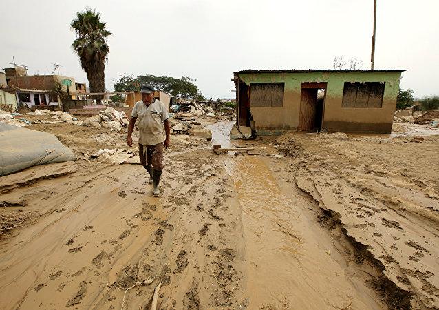 Aluviones en Perú (Archivo)