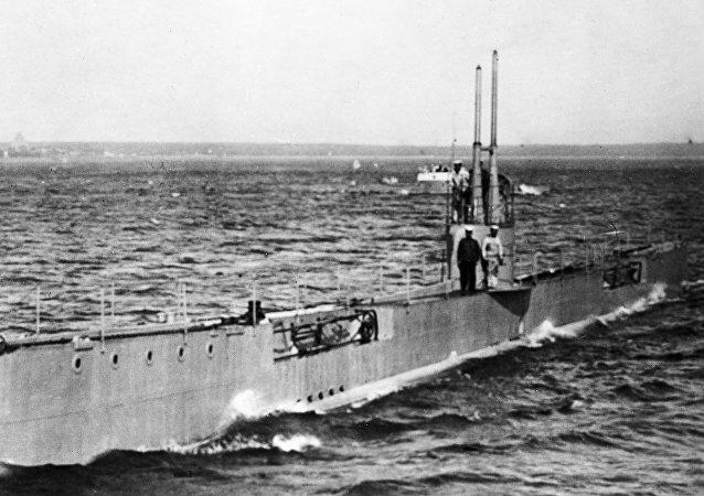 Un submarino soviético (archivo)