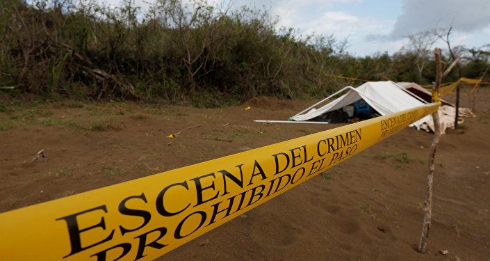 La escena de un crimen en México
