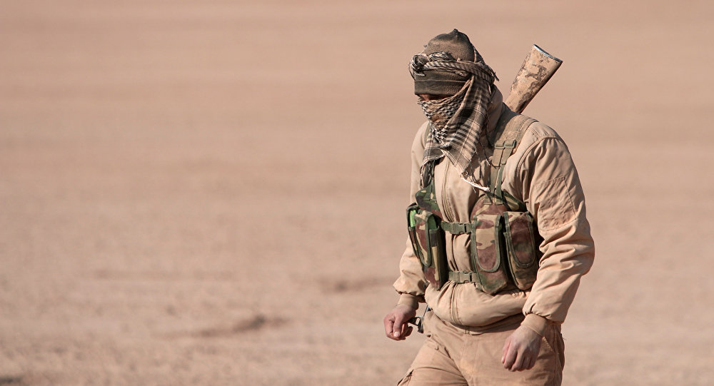 Un combatiente de las Fuerzas Democráticas de Siria (archivo)
