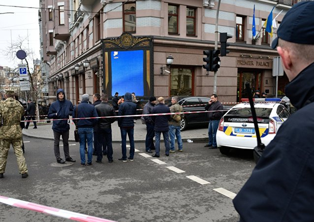 Lugar del asesinato del exdiputado ruso Denis Voronénkov