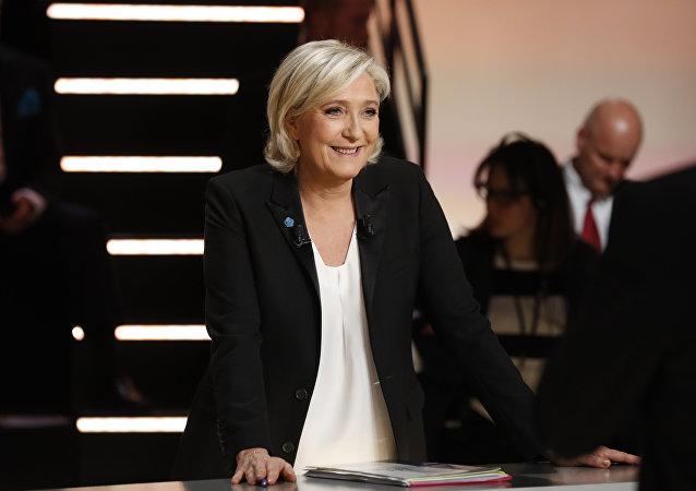 Marine Le Pen, presidenta de Agrupación Nacional (AN)